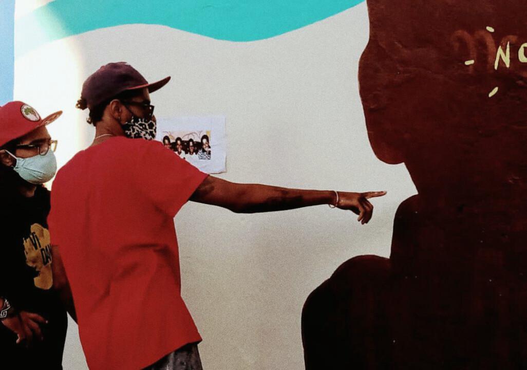 Com o artista Che, em Ermelino Matarazzo