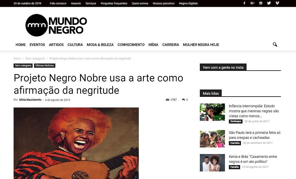 Imagem: Reprodução Site Mundo Negro