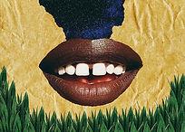 Sinal de beleza, versão da bandeira brasileira já que a oficial se desgastou visualmente em termos de representatividade, sinal de beleza pra todas as mulheres negras brasileiras que na infância e adolescência eram ofendidas por terem a boca grande, sinal de beleza pelos dentes separados ditos imperfeitos e feios, sinal de beleza pelo que antes era negativo e hoje é exaltado através dos processos de empoderamento, sinal de beleza pela distorção do corpo negro, sinal de beleza pela real representação do povo brasileiro que negro. . o universo é nosso.
