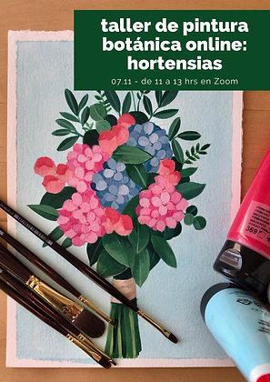 Composición con hortensias 7.11