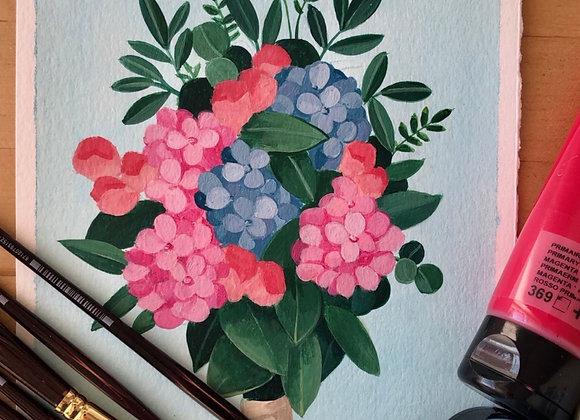 Composición con hortensias 5.11