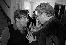 Lucio Dalla e Nino Campisi al Teatro del Navile, giugno 2011 (foto di Andrea Salvato)