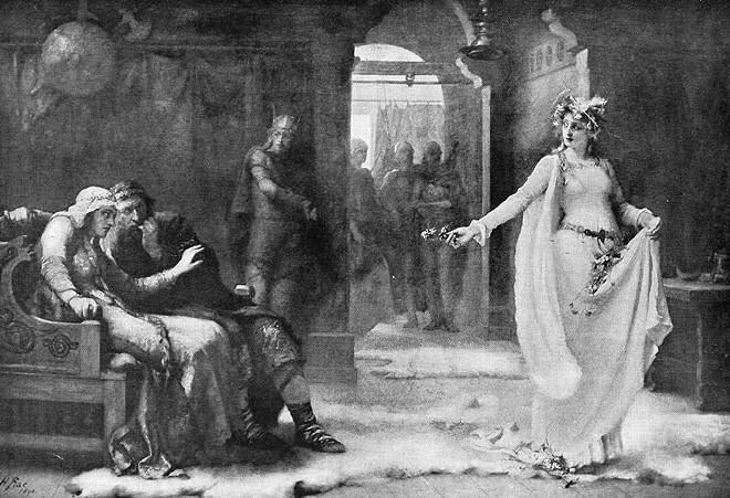 Ophelia, Henrietta Rae, 1890
