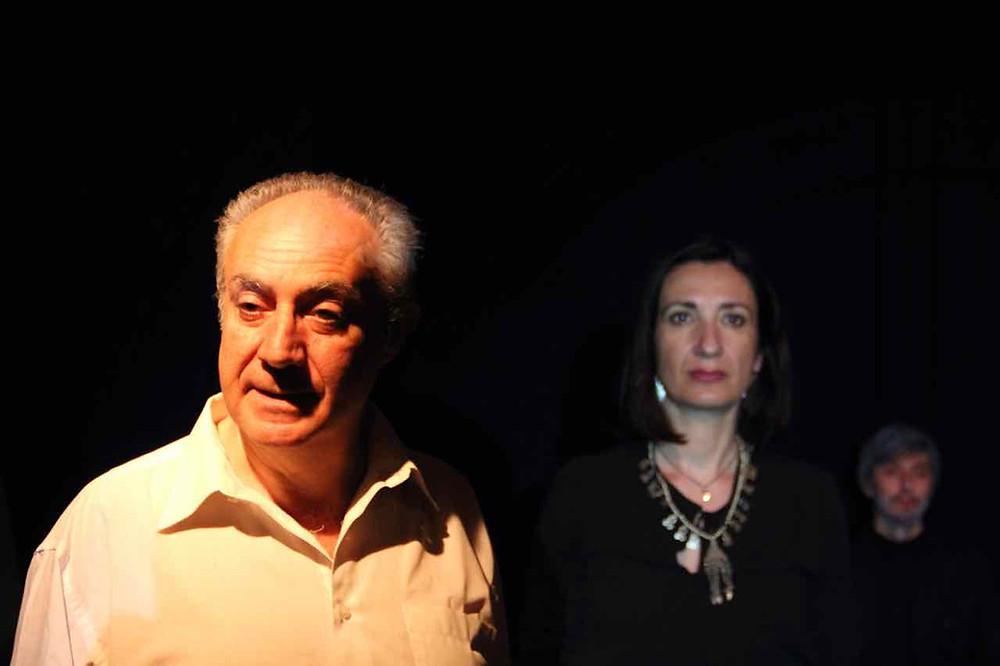 """Maurizio Corrado in """"Antigone"""" di Jean Anouilh. Regia di Nino Campisi. Teatro del Navile, maggio 2016."""