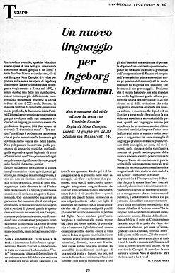 Un nuovo linguaggio per Ingeborg Bachmann