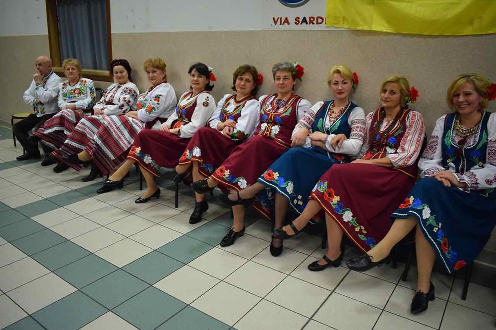 Il coro dell' Associazione Italia-Ucraina di Bologna