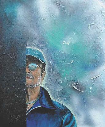 Dalla, tecnica mista su tela, Andrea Petrone 2002