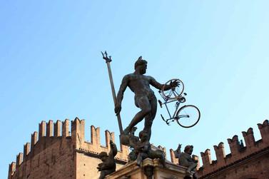 Il Nettuno con bici