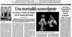 Una normalità sconvolgente - In scena «I Nani» di Pinter con il Teatro del Navile