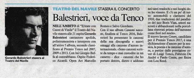 Balestrieri, voce da Tenco