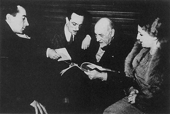 Pirandello incontra Eduardo, Peppino e Titina De Filippo,1933