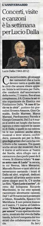 Concerti, visite e canzoni, è la settimana per Lucio Dalla