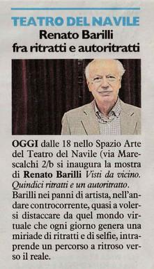 Renato Barilli fra ritratti e autoritratti.