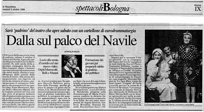 Lucio Dalla sul palco del Navile