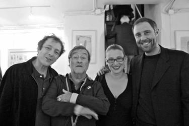Lucio Dalla con Nicoletta Mantovani e Filippo Vernassa al Teatro del Navile - 06.06.2011 - 5 (foto di Nino Campisi)