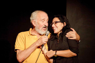 Enzo Robutti e Natascia Mazza al Teatro del Navile (foto G. Orlandi, 2009)