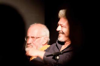 Enzo Robutti e Nino Campisi al Teatro del Navile (foto G. Orlandi, 2009)