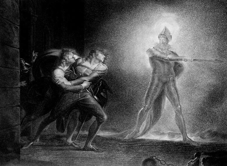 Nella foto: Hamlet, Prince of Demark di J.H. Fuseli (particolare)