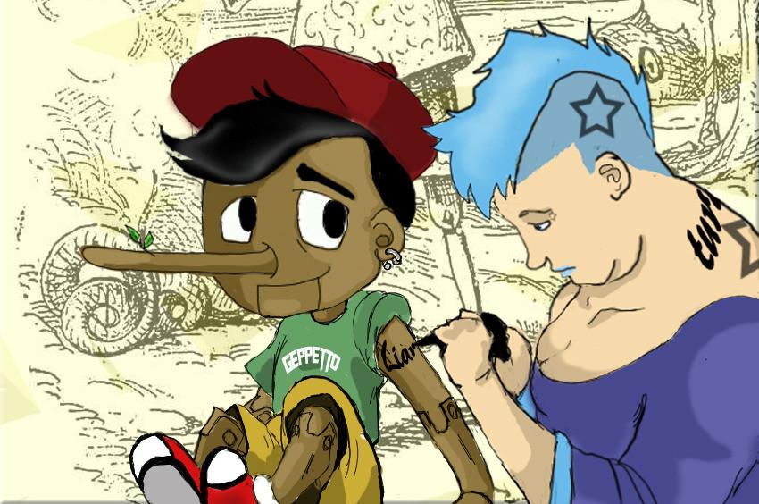 Pinocchio ribelle dal legno alla pelle