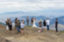 Mountain top wedding ceremony
