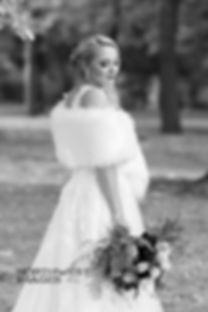 Bride looking down | Missoula wedding photography