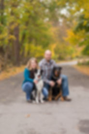 Engagement shoot with the couple's dogs
