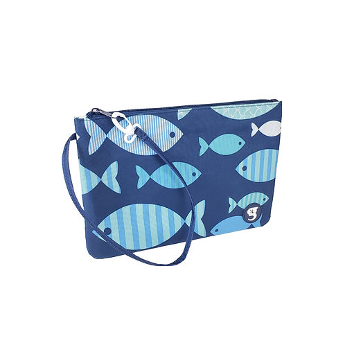 Swim / Small Utility Bag - Blue Fish