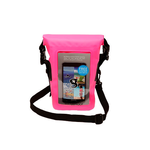 Waterproof Phone Tote - Neon Pink