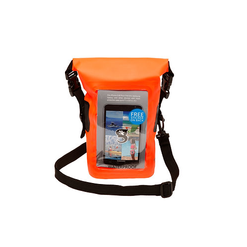 Waterproof Phone Tote - Neon Orange