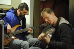 Chris Aylmer bass, Mike Cooling guit