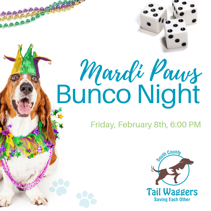 Mardi Paws Bunco Night, Bark'n & Beads