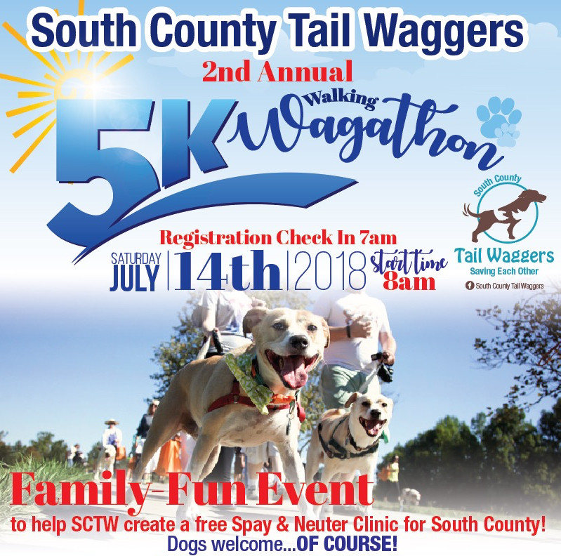 2nd Annual 5K Wagathon July 14th - Come join us!