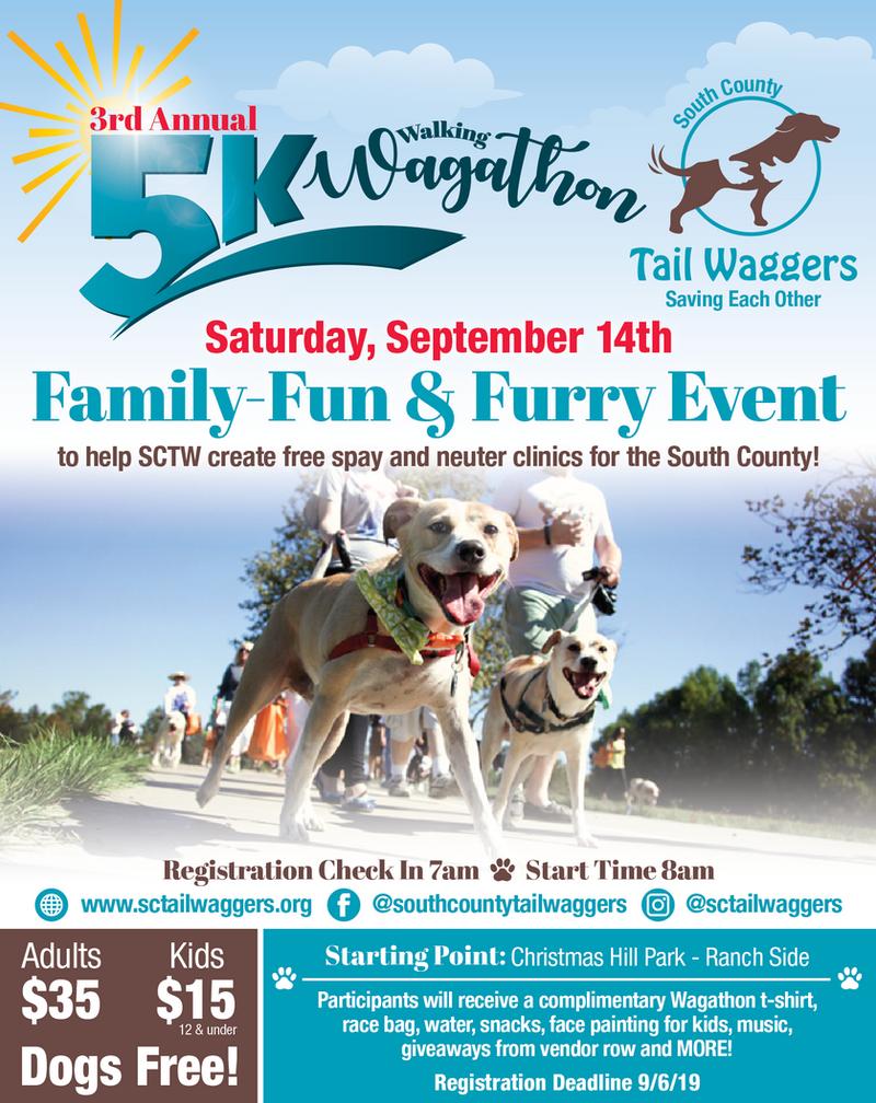 3rd Annual 5K Wagathon 9/14