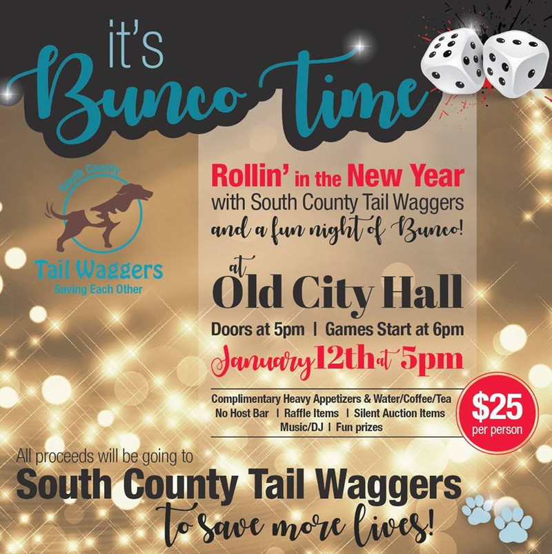 Play Bunco to Save Lives! 1/12