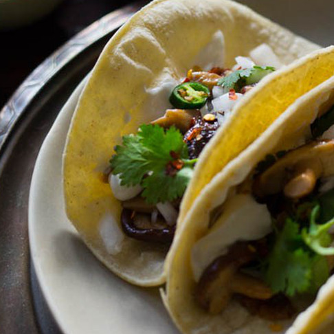 Recipe of the Week is Lobster Mushroom Bisque & Soft Tacos!