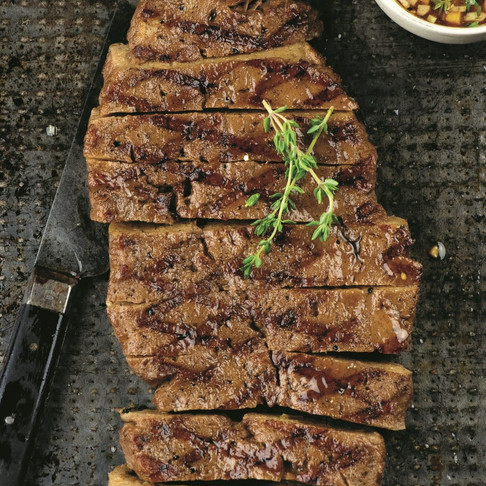 NY Strip Steak, Creamy Lentil w/ Roasted Vegetable Bake & Bagels w/ Tomato Basil, Recipe of the Week