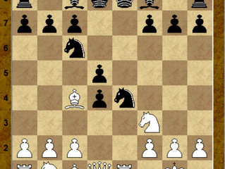 Защита двух коней. Вариант 4. d4.