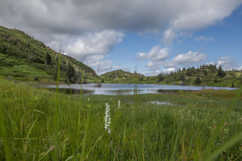 Petit lac dans la vallée