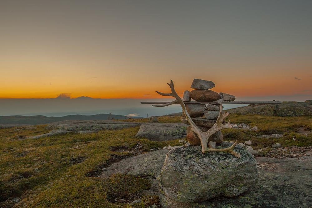Coucher de soleil sur le sommet Boissinot