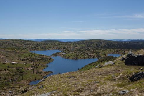 Lac derrière le mont Goéland