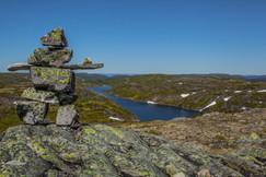 Inukshuk au sommet du mont Goéland