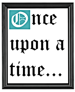 Our Story, once upon a time, picture frame