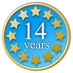 14 years trading history logo