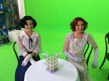 """Choreographer - on set green screen shooting for """"The Velvet Rope"""""""
