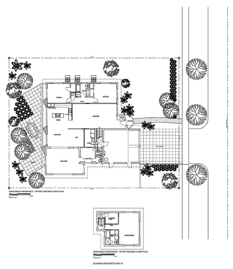 "Nautilus Drive, Miami Beach -  ""After"" Floor Plans by United Architects"