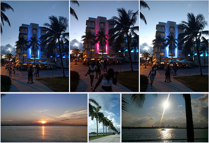 This is a composite photo of several views of Miami