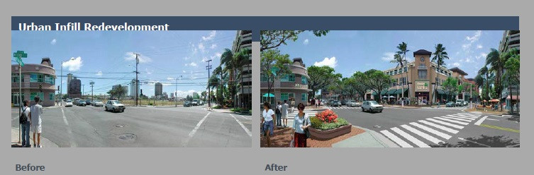 Photo of urban infill by City of Miami Planning Dept.