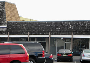 """""""Before"""" photo of shopping center before remodeling by United Architects"""