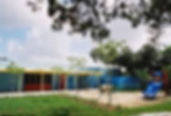 Rear and Front view of the pres-school