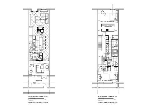 These are the floor plans by United Architects after the remodeling